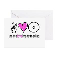 Peace, Love & Breastfeeding ( Greeting Cards (Pack