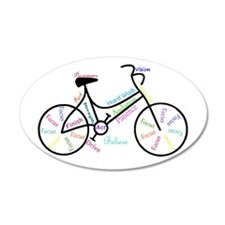 Motivational Words Bike Wall Decal