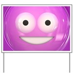 Candy Smiley - Pink Yard Sign