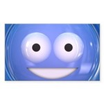 Candy Smiley - Blue Sticker (Rectangle 10 pk)