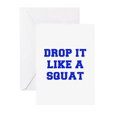 DROP-IT-LIKE-A-SQUAT-FRESH-BLUE Greeting Cards