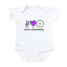Peace, Love & BF(Purple) Infant Bodysuit