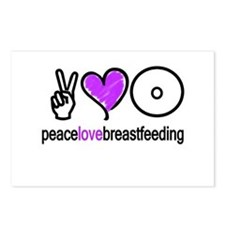 Peace, Love & BF(Purple) Postcards (Package of 8)