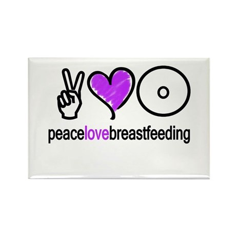 Peace, Love &amp;amp; BF(Purple) Rectangle Magnet