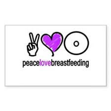 Peace, Love & BF(Purple) Rectangle Decal