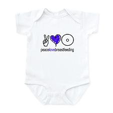 Peace, Love & BF(Blue) Infant Bodysuit
