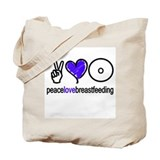 Peace, Love &amp; BF(Blue) Tote Bag