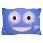 Candy Smiley - Blue Pillow Case