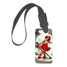 Vintage Christmas - Stick Horse Luggage Tag