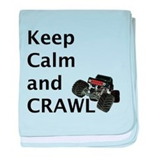 Keep calm and crawl for light t baby blanket