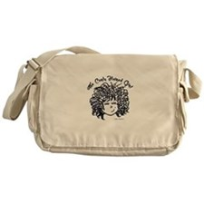 The Curly Haired Girl Messenger Bag