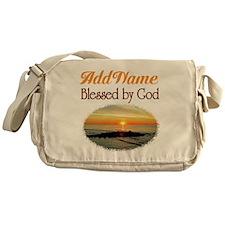 BLESSED BY GOD Messenger Bag