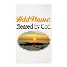 BLESSED BY GOD 3'x5' Area Rug