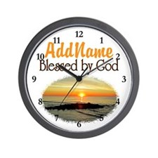 BLESSED BY GOD Wall Clock