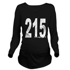 Distressed Philadelphia 215 Long Sleeve Maternity