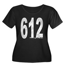 Distressed Minneapolis 612 Plus Size T-Shirt