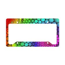 Rainbow Bubbles License Plate Holder