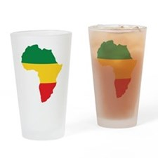Green, Gold and Red Africa Flag Drinking Glass
