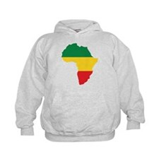 Green, Gold and Red Africa Flag Hoody