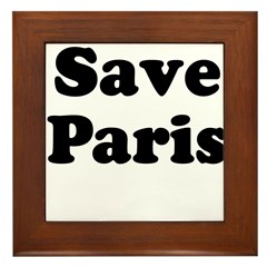Save Paris Framed Tile