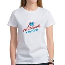 Custom Swim Optional Text Tee
