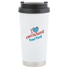Swimming Optional Text Travel Mug