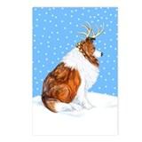 Collie Deer Sable Postcards (Package of 8)