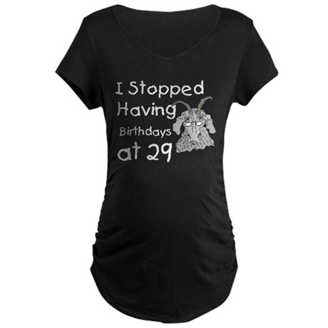 Goat Birthday 29 Maternity Dark T-Shirt