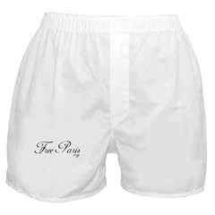 Free Paris (FreeParis.org) Boxer Shorts