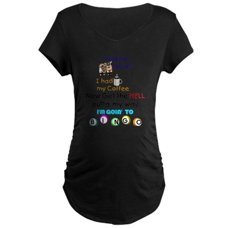 Goats and Bingo Maternity Dark T-Shirt