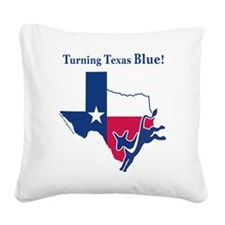Turning TX Blue Square Canvas Pillow