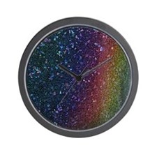 Glitter In My Veins Wall Clock