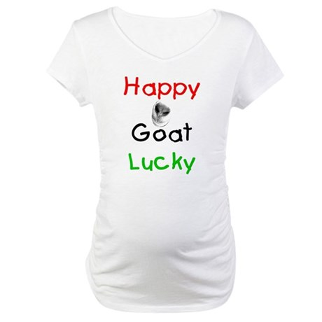 Happy Goat Lucky Maternity T-Shirt