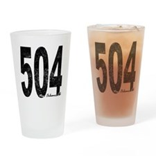 Distressed New Orleans 504 Drinking Glass