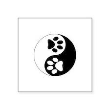 "Cute Paws Square Sticker 3"" x 3"""