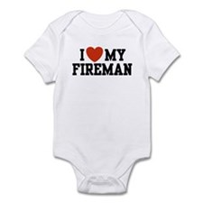 I Love My Fireman Infant Bodysuit