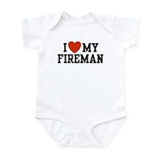 I Love My Fireman Onesie