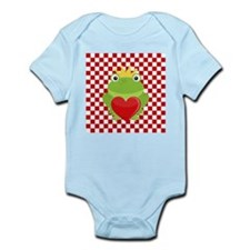 Frog Prince on Red and White Body Suit