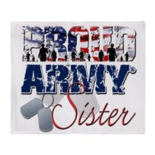ProudArmySister Throw Blanket