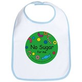 No Sugar for me-allergy alert Bib