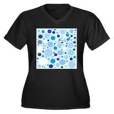 Fun Blue Dots Plus Size T-Shirt