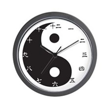 Yin-Yang Chinese Wall Clock