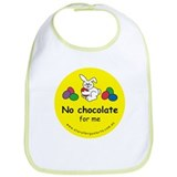 No chocolate for me Bib