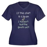 GOATS-Clean Shirt haven't fed Women's Plus Size V-