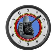 CIWS Close-In Weapon System Large Wall Clock