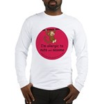 Nuts and sesame-allergy alert Long Sleeve T-Shirt