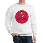 Nuts and sesame-allergy alert Sweatshirt