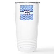Teal & Pink Retro Flora Travel Coffee Mug