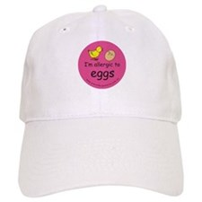 I'm allergic to eggs-pink Baseball Cap