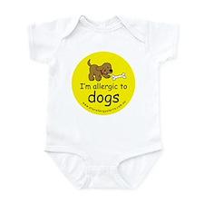 I'm allergic to dogs Infant Bodysuit